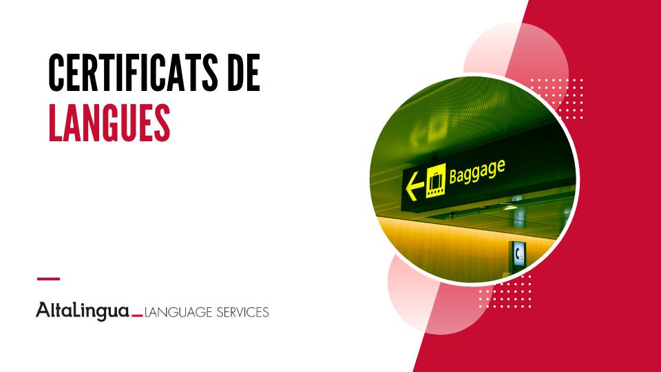 Certificats de langues